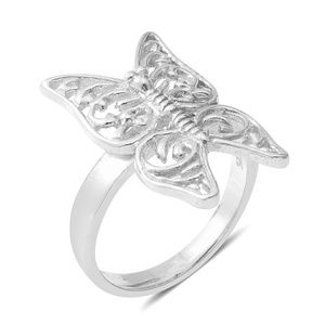 Jewelry - STERLING SILVER BUTTERFLY RING